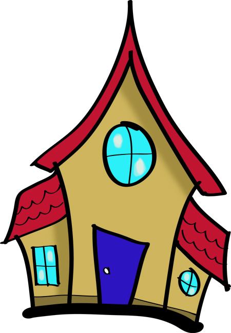 casas infantiles para dibujar