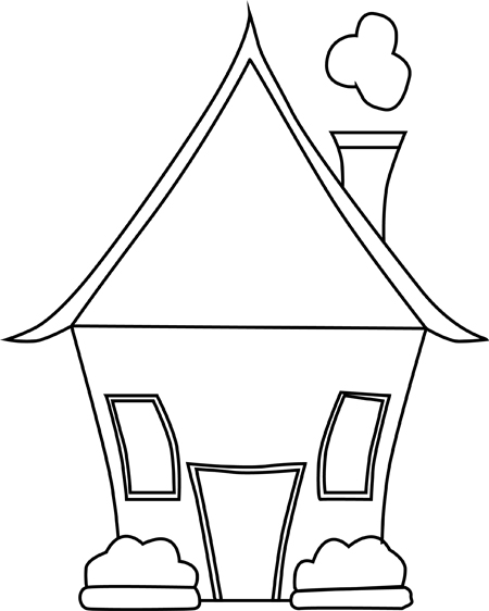 casa lista para colorear