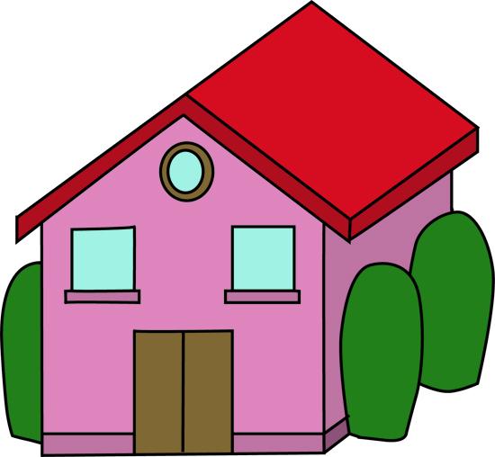 casa rosa pintada