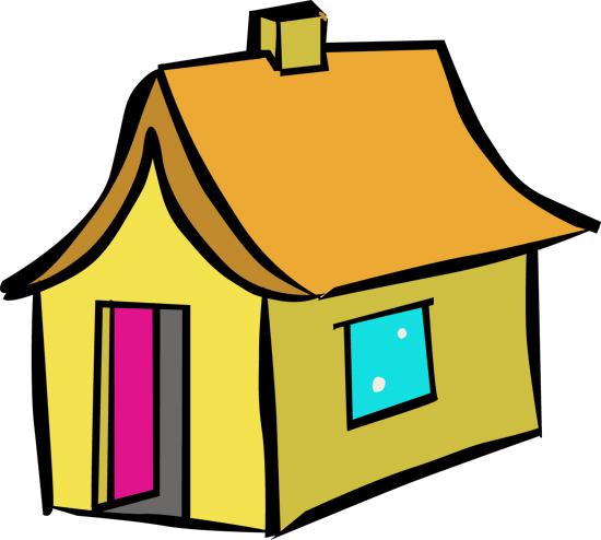 pintar los dibujos de casas