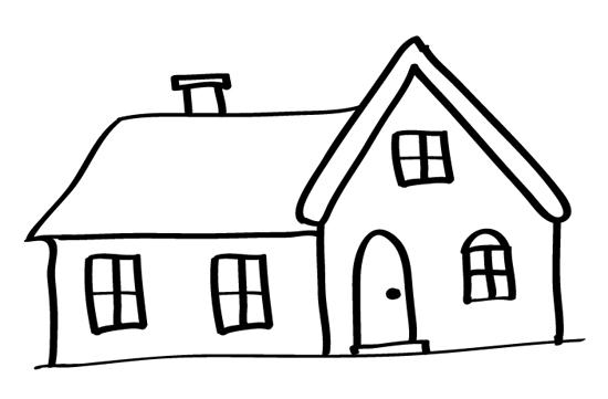 casa de campo para dibujar