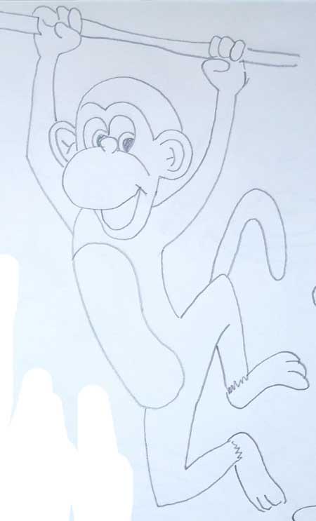 dibujos-de-monos-en-la-selva