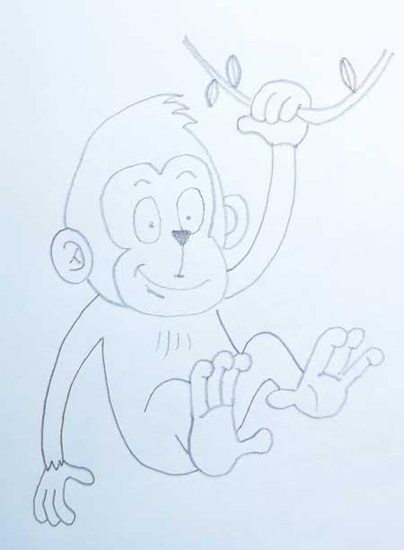 dibujos-de-monos-faciles-para-niños