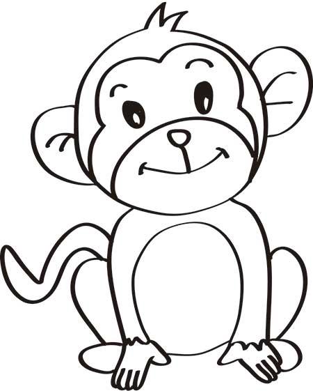 dibujos-de-monos-infantiles-dulces