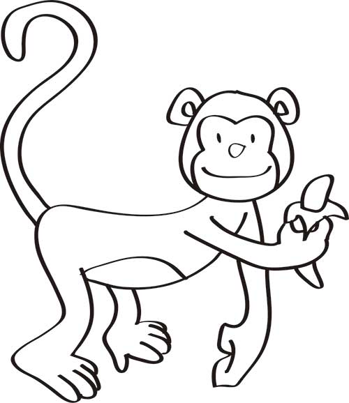dibujos-de-monos-para-colorear-en-casa