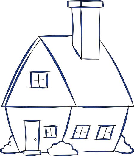 dibujos de la casa para colorear