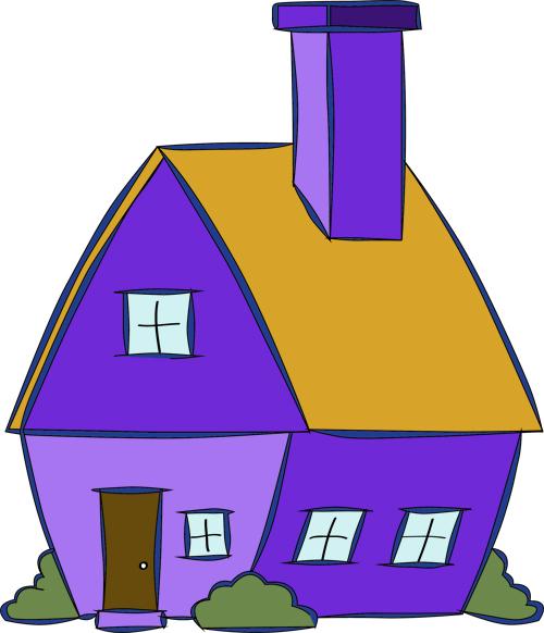 dibujo de casas por dentro para pintar