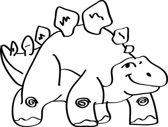 un lindo dinosaurio dibujado