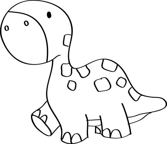 dibujo infantil de dinosaurio