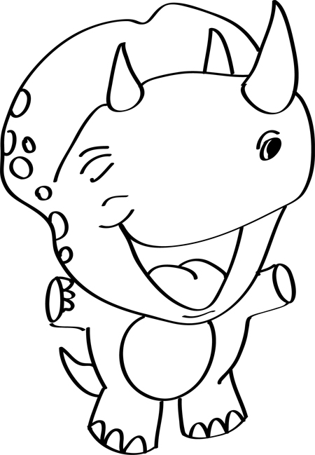bonitos dinosaurios dibujados