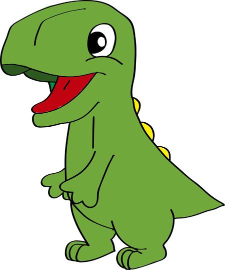 dibujo de dinosaurio pintado