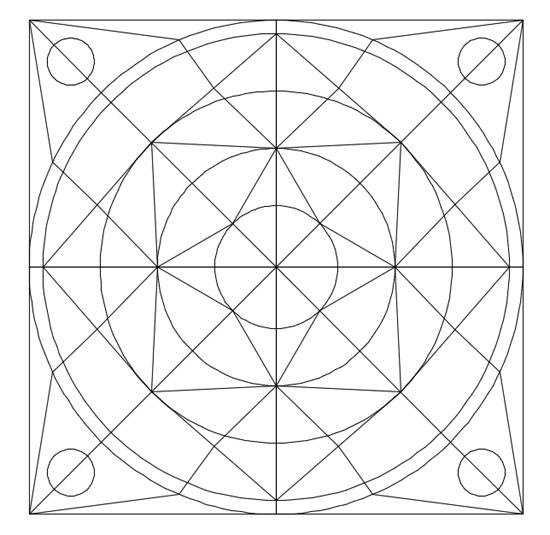 dibujos complicados de mandalas