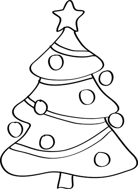 arbol de navidad para dibujar