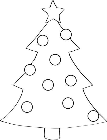 dibujo arbol de navidad