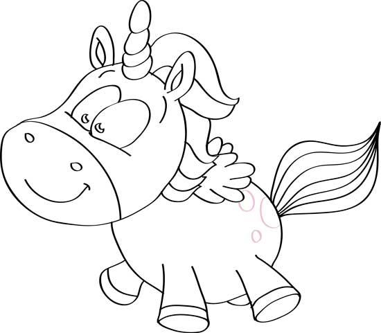 dibujos de unicornios a lapiz