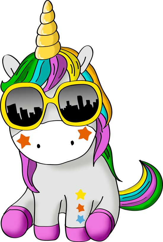 dibujos de unicornios faciles