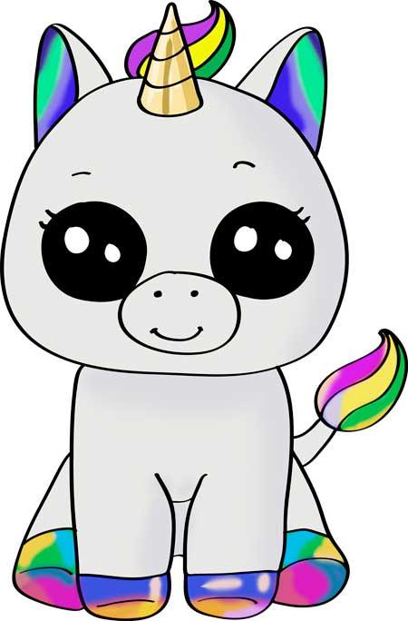 dibujos de unicornios kawaii