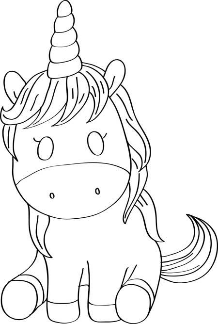 dibujos de unicornios-para-colorear-gratis