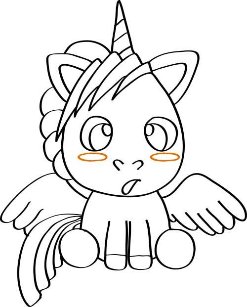 dibujos de unicornios para imprimir y colorear