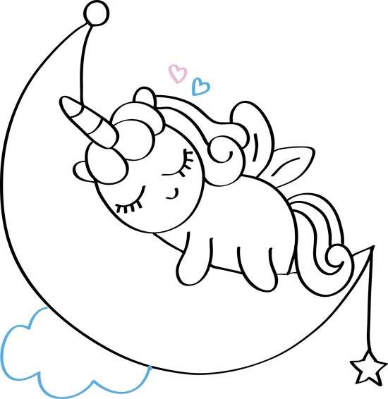 dibujos faciles de unicornio