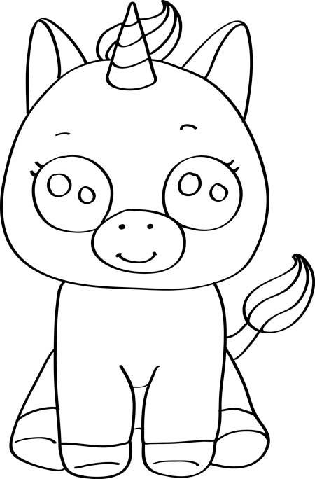Dibujos Para Colorear De Unicornios Kawaiis Colorear Dibujos