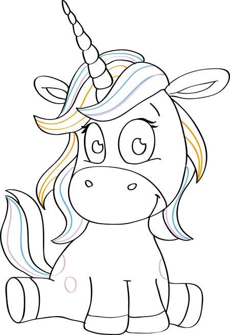 unicornios faciles de dibujar