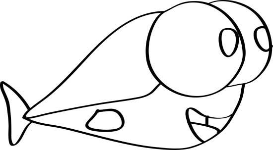bonito dibujo de pez ojoroso