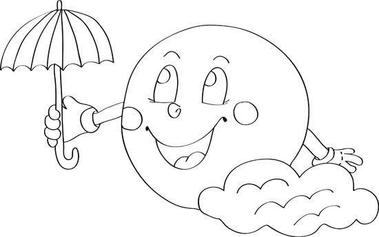caricatura de la luna