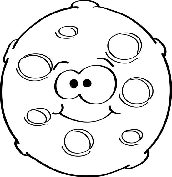 como dibujar la luna