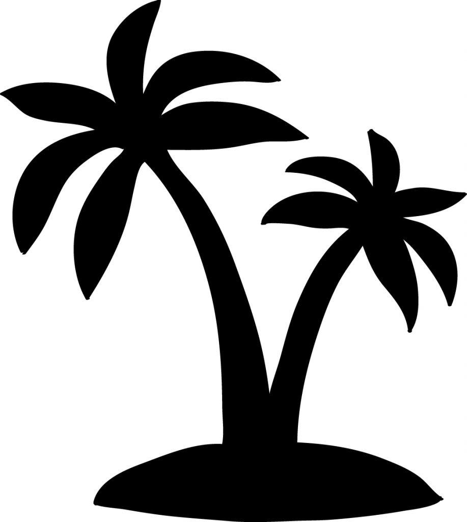 dibujos de islas con palmeras