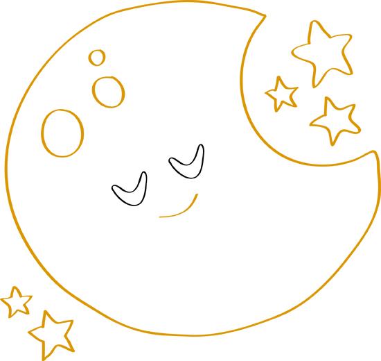 dibujos de luna para colorear