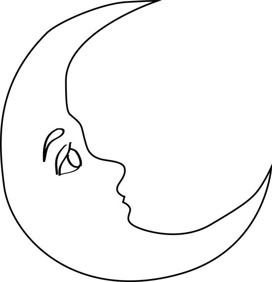 dibujos de lunas para colorear