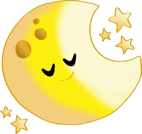 la luna y estrellas