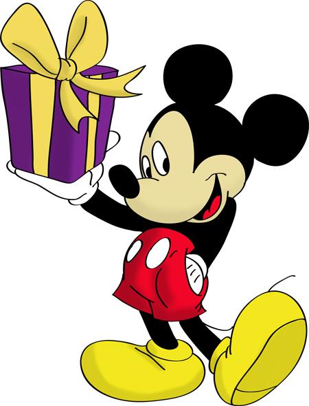 mickey con un regalo