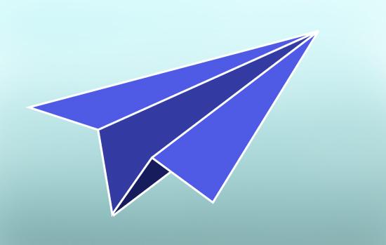 aviones de papel pintados