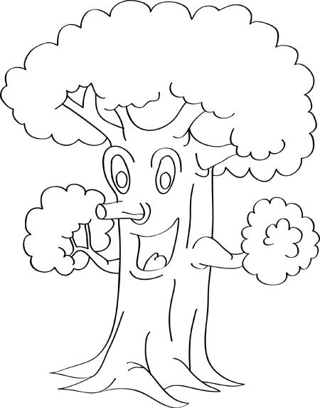 caricatura de arbol