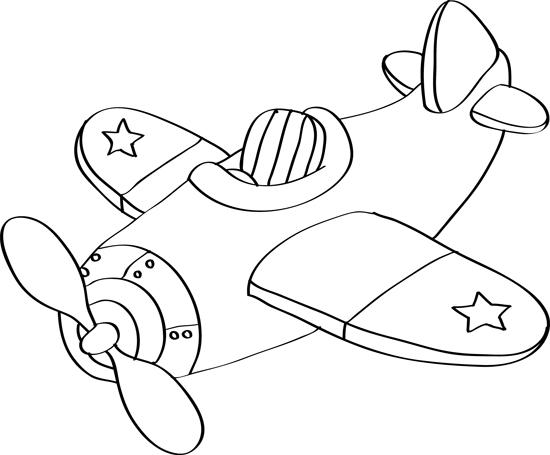 dibujo infantil de avion