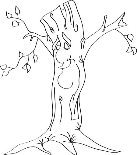dibujos de arboles de otoño