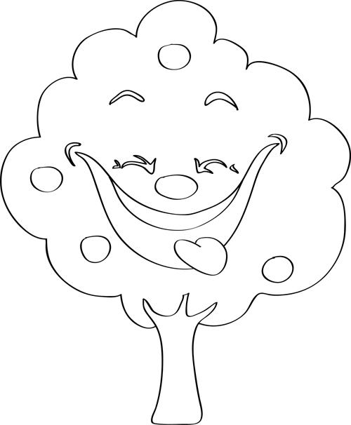 dibujos de arboles faciles