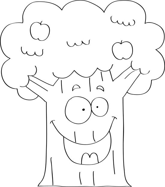 dibujos de arboles frutales