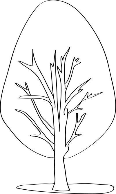 dibujos de arboles para colorear