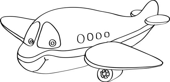 dibujos de aviones faciles