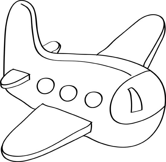dibujos de aviones para niños