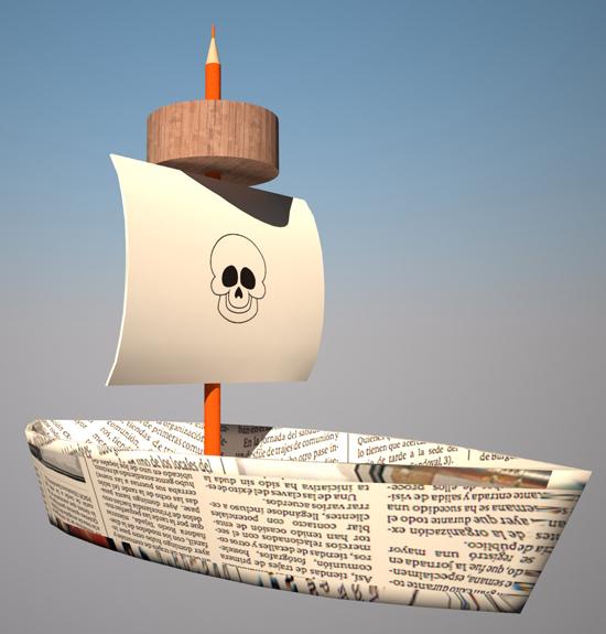 dibujos de barcos piratas