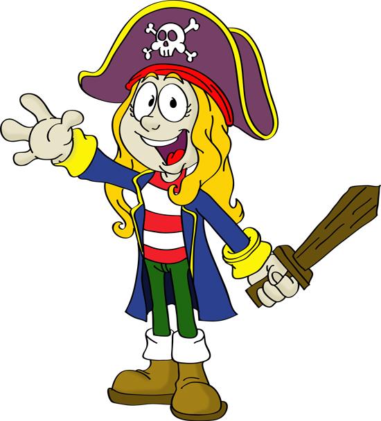 dibujos de chicas piratas