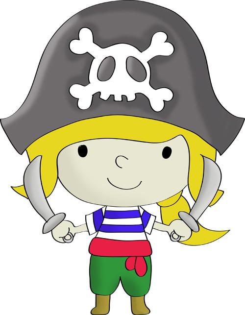 dibujos de piratas infantiles a color