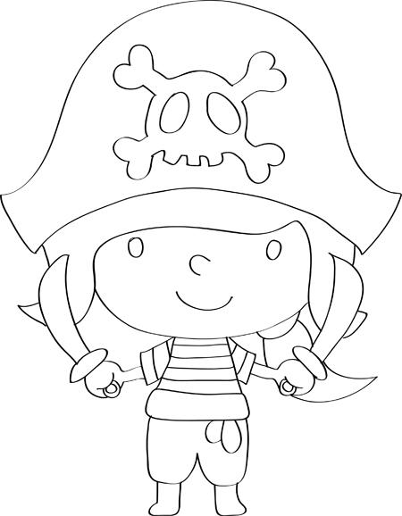 dibujos de piratas infantiles