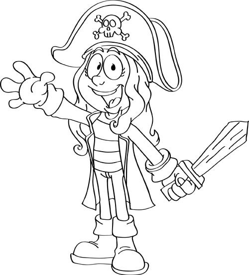 dibujos de piratas para niños