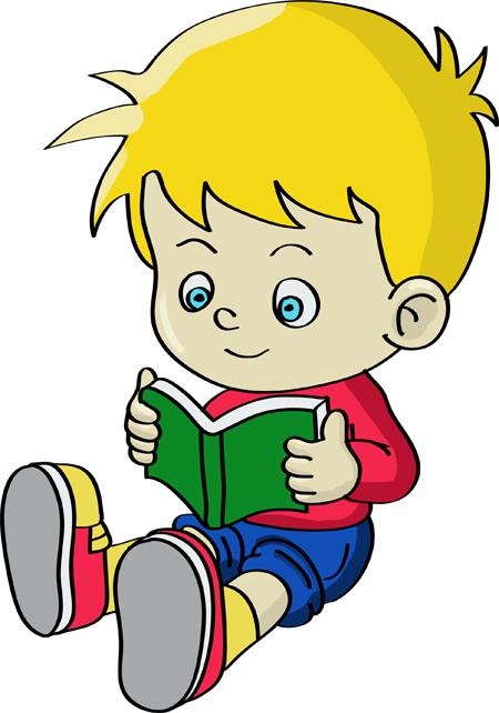 dibujo de niño leyendo