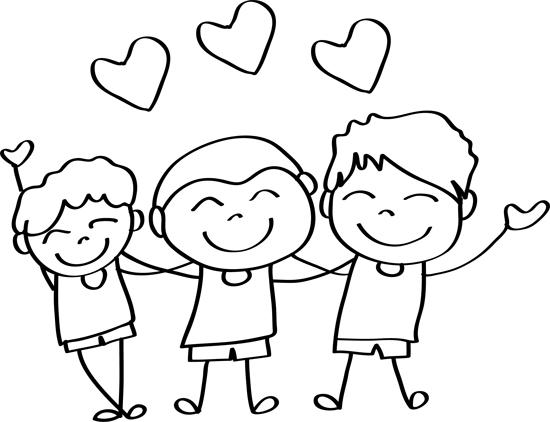 dibujos de amigos para colorear